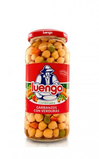 Macédoine de pois chiches cuits aux légumes «Luengo»