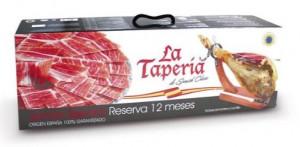 Coffret jambon Reserva, couteau et porte jambon La TAPERIA