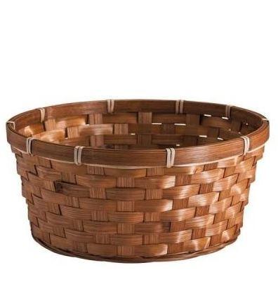 Panier rond bambou marron ø 25 cm