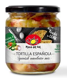 Préparation pour tortilla aux légumes