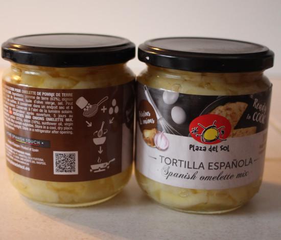 Préparation pour Tortilla aux Oignons